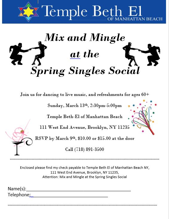 Mix and Mingle Singles Social